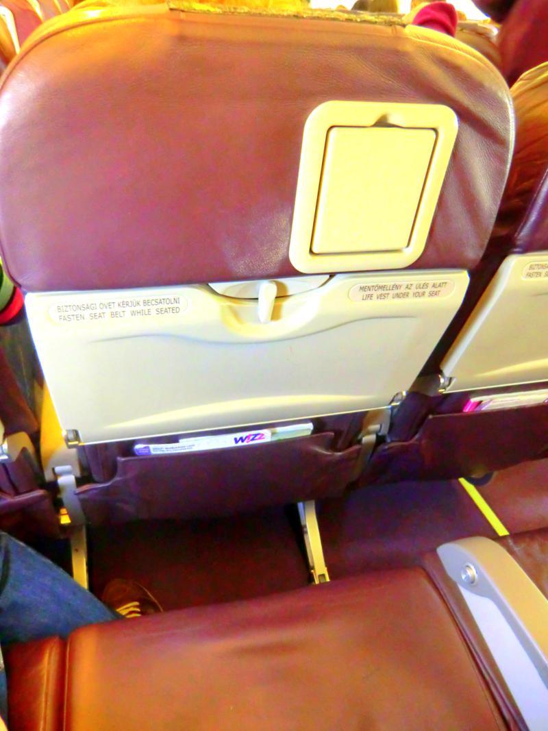 Der Sitz bei Wizz Air - Economy Class wie überall