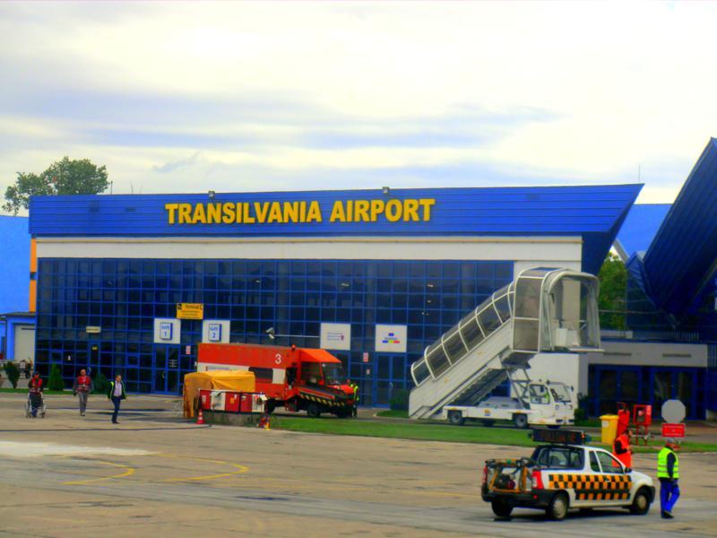 Der Transsilvania Airport bei Targu Mures in Siebenbürgen