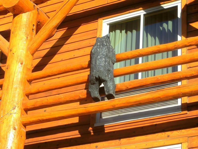 Die typischen Bären in der Lodge at Jackson Hole