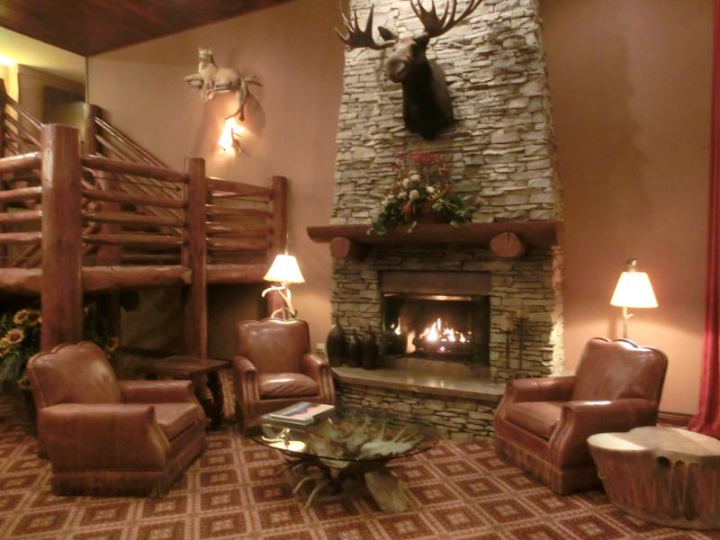 Die Lobby im Hotel Lodge at Jackson Hole in Wyoming