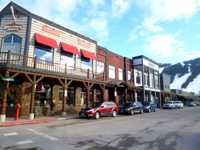Die historische Altstadt von Jackson im Bundesstaat Wyoming
