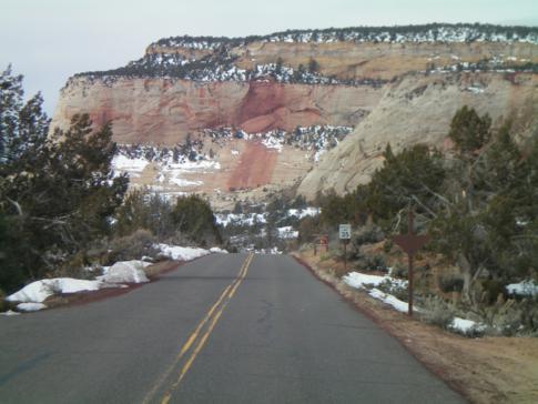 Der östliche Teil des Zion Canyon - zwischen Osteingang und Tunnel