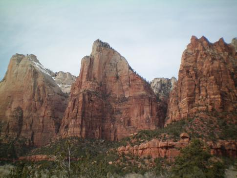 Court of the Patriarchs - besondere Gesteinsformation im Zion Canyon